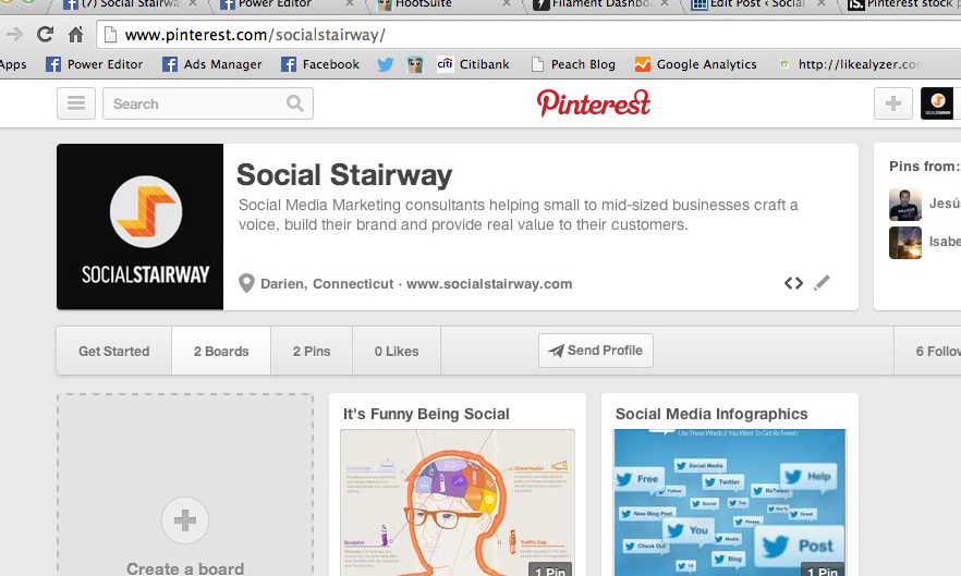 Social Stairway Pinterest Page
