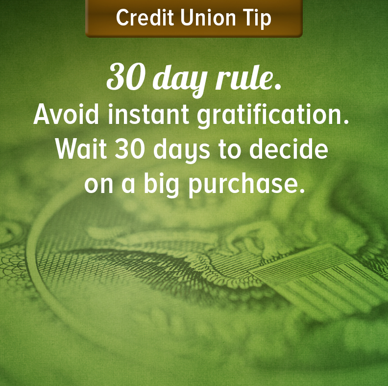 Financial Tips - 30 day rule