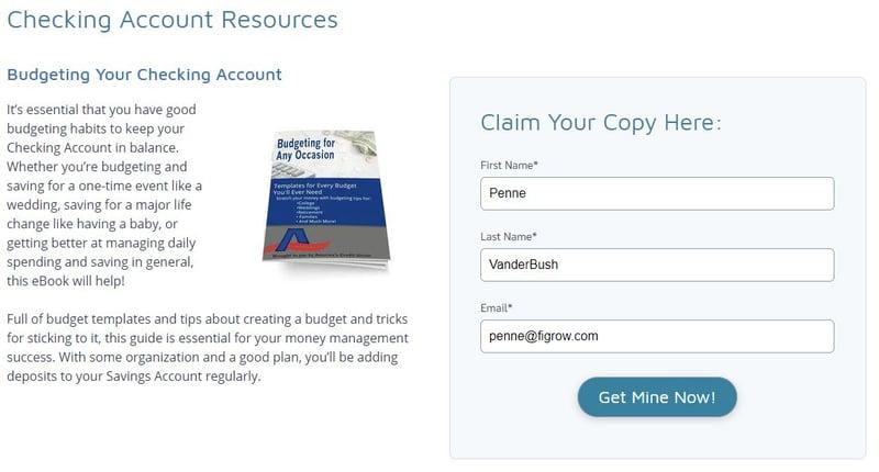 ACU Checking Account Budgeting eBook