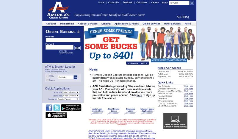 ACU Website Before