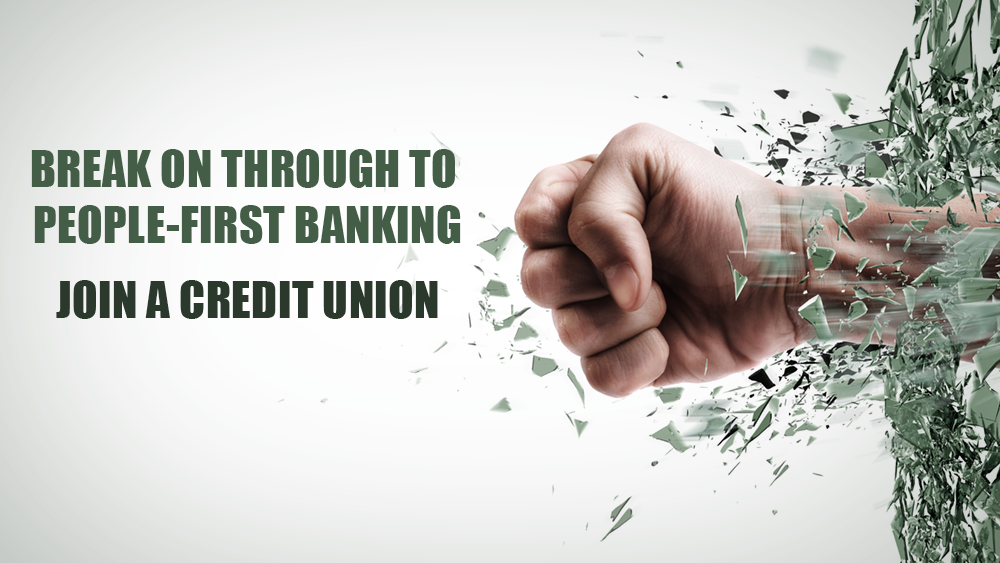 Credit Union Graphic on breaking through