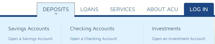 Deposit Open an Account
