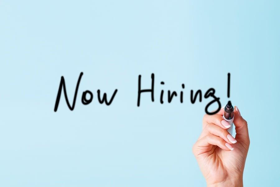 now hiring image