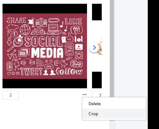Facebook Creator - Crop Photos