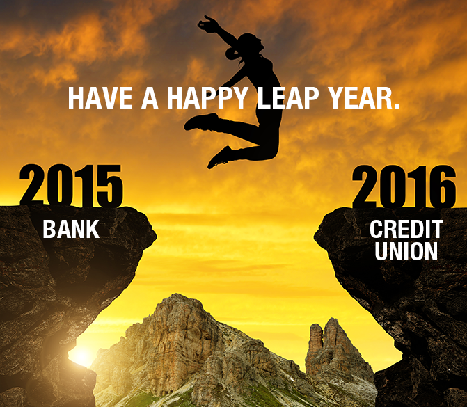 Credit Union Graphic about Leap Year