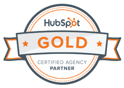 HubSpot Gold Partner Badge FI GROW Solutions