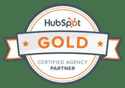 HubSpot Gold Partner Badge FI GROW Solutions