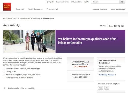 Wells Fargo website image