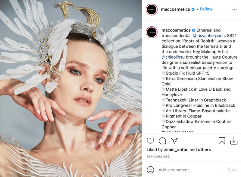 MAC Cosmetics Instagram Account