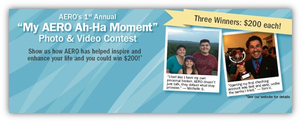 Facebook Contest - AERO Ah-Ha Moment Testimonial