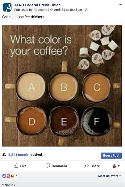 social media question example image