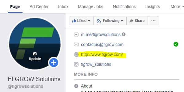 Website on FB