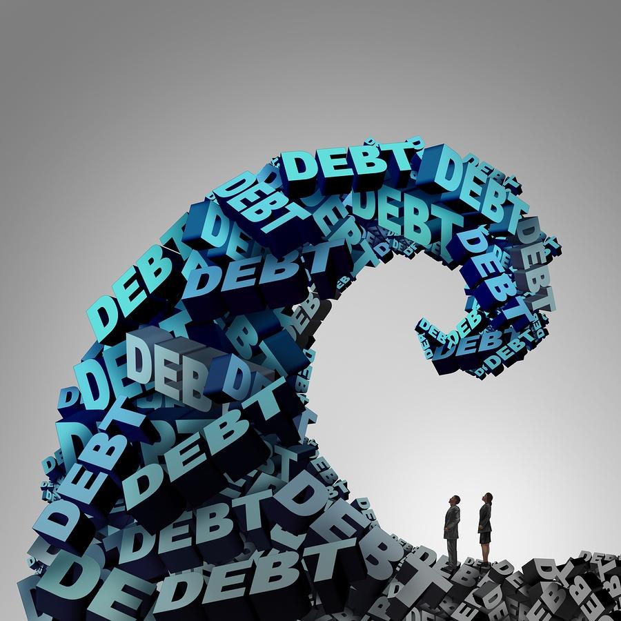 credit card wave of debt image