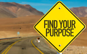 Find Your Purpose sign on desert road