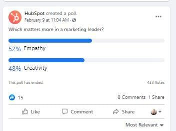 HubSpot Poll