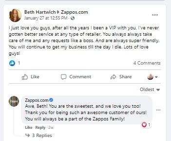 Zappos Happy Customer