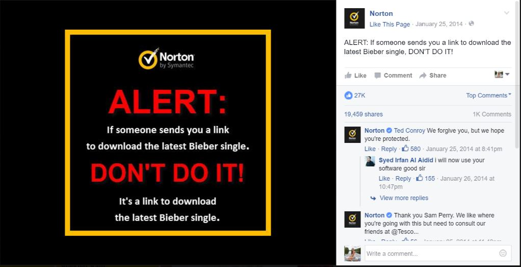 Respond to Comments on Social Media - Norton
